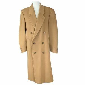 Vintage Men's Camel Wool/Cashmere Overcoat SZ-38R